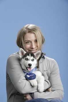 Hannah Kearney (Skiing) | 15 U.S. Olympians Posing With A Siberian Husky Puppy Is The Cutest Thing You'll See Today