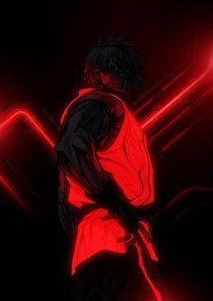 tron style ken - street fighter art by bosslogic
