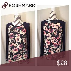 SPRING SALE ☂️ Floral Long Sleeve Long Sleeve Floral Top. Light weight, gorgeous purple, soft and cozy. Runs true to size! Price firm, but all bundles receive 10% off! Snag it now before spring! Comment with questions! 💕 Tops Tees - Long Sleeve
