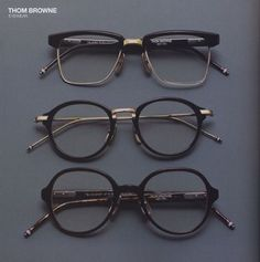 thom browne. when my eyes eventually inevitably fail, those top frames will be on my face.