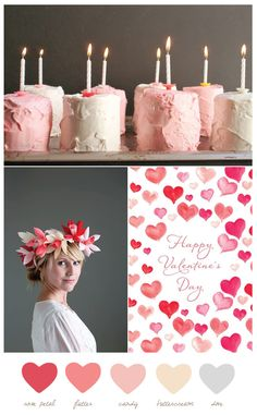 Happy Valentine's Week!!!  We are loving  this color palette in Rose Petal and Buttercream from The Sweetest Occasion.