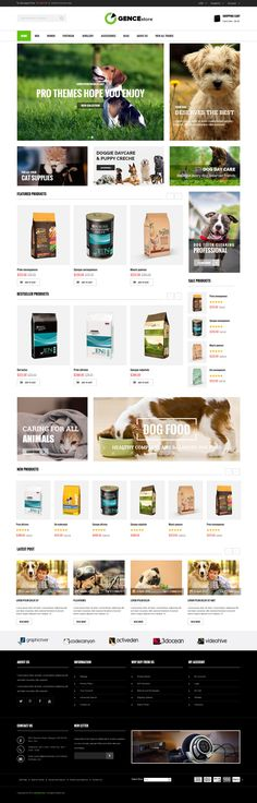 Are you looking for an outstanding #eCommerce #website for your online #store? Ogence here is a great pick! This responsive Magento theme is especially designed for digital, electronics, accessories, #pets, pet food stores. Elegant design, sleek and clean block layout, handy features and extensions, Ogence #Magento Theme will rock your site.