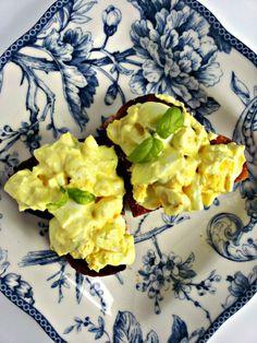 Healthy Greek yogurt egg salad