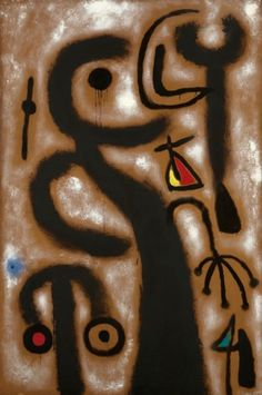 Joan Miró i Ferrà PEINTURE Signed Miró (lower left); signed Miró, dated 1953 and titled on the reverse Oil on canvas 76 by 51 in. by cm) Painted in Sotheby's Canvas Art Prints, Oil On Canvas, Joan Miro Paintings, Paul Klee, Les Oeuvres, Modern Art, Contemporary, Art Gallery, Illustration Art