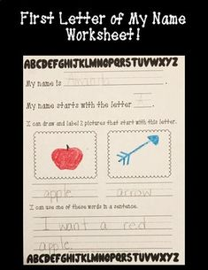 This worksheet is great to use to show students the importance of the first letter of their name. It also can go along with read alouds that focus on names.