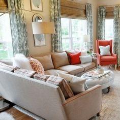 family room neutral interior designer warrenton