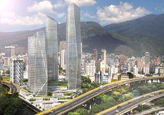 Torres de cristal en caracas Venezuela. render realizado por ronald rodriguez empleando sketchup mas vrayrender, mejorando cada día mas el trabajo