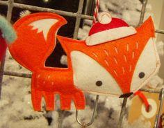 Paperchase Christmas ornament via print & pattern Fox Ornaments, Felt Ornaments Patterns, Handmade Christmas, Christmas Crafts, Christmas Ornaments, Xmas, Fox Crafts, Fox Decor, Felt Fox