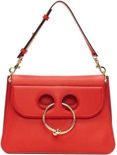 J.W.Anderson Red Medium Pierce Bag Tan Purse f54dd64abd336