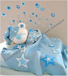 Sleeping Teddy Baby Shower Cake