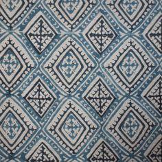 Havana | Walter G #textiles #fabric #linen #blue #diamonds