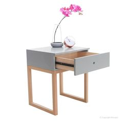 Buy Ralph 1 Drawer Bedside Table - Grey