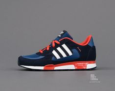 I don't normally like Adidas but these are awesome: Adidas Originals ZX 850K: Blue/Black/Red