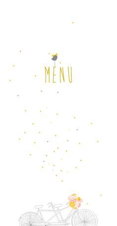 menu de mariage tandem by My Lovely Thing pour www.rosemood.fr #rosemood #atelierrosemood #wedding