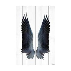 "Parvez Taj PT-WNPW-01-WW-60 60 Inch x 40 Inch ""Black Wings"" Art ($316) ❤ liked on Polyvore featuring home, home decor, wall art, wall decor, wood art, black home decor, black wall art and parvez taj"