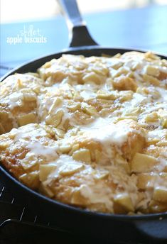 Cookies and Cups Skillet Apple Biscuits - Cookies and Cups