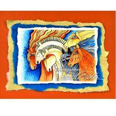 Laurel Burch Rubber Stamps - Crafts / Cardmaking / Horse / Stamping - Memorycrafts.co.nz