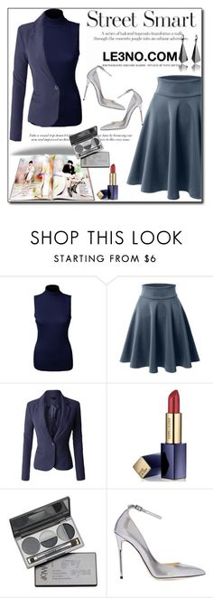"""""""LE3NO Clothing VIII"""" by esma178 ❤ liked on Polyvore featuring LE3NO, Estée Lauder, DuWop, Jimmy Choo, le3no and le3noclothing"""