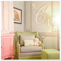 Fashionable Baby Girl Room