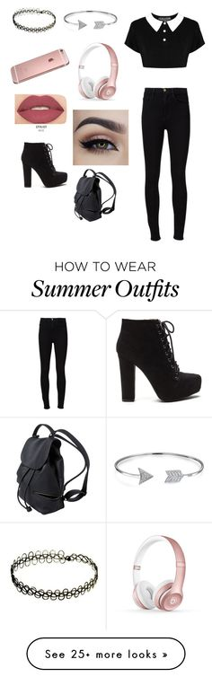 """""""Summer outfit"""" by mylifeasdaniela on Polyvore featuring Frame Denim, Beats by Dr. Dre, Bling Jewelry and Smashbox"""