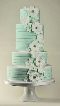 Mint and white striped