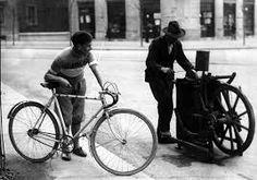 Ciclista e afiador.