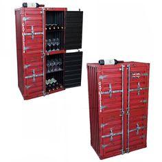SeaCube viinikaappi - Kolibri-Shop Shops, Lockers, Locker Storage, Cube, Furniture, Home Decor, Tents, Decoration Home, Room Decor