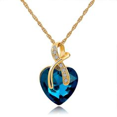 Austrian Crystal Heart Pendants - AtPerrys Healing Crystals Heart Pendants 09cfff751cee
