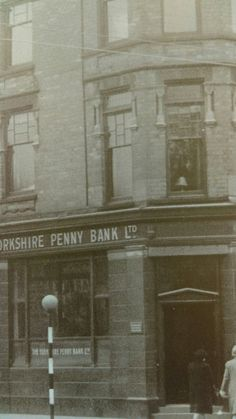 Corner of Brunswick Ave. The old Yorkshire penny bank. Philip Larkin, Penny Bank, Kingston Upon Hull, East Yorkshire, Northern Ireland, Great Britain, Period, The Past, Old Things