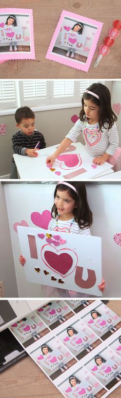 Personalized Photo Cards | DIY Valentines Crafts for Kids to Make | Easy Valentines Day Activities for Classroom