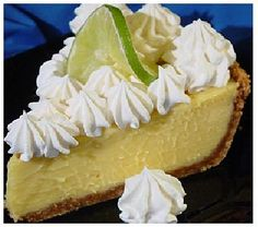Port Orleans Riverside Resort: Key Lime Pie Recipe Since today is National Pie Day, I'd thought I'd share a recipe for one of Disney's delicious pies. Port Orleans Riverside Re. Disney Desserts, Just Desserts, Delicious Desserts, Yummy Food, Disney Recipes, Disney Food, Walt Disney, Healthy Food, Authentic Key Lime Pie Recipe