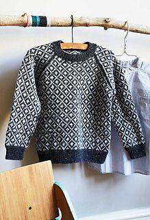 Faroe Sweater - pattern from englegarn. Sweater Knitting Patterns, Cardigan Pattern, Knitting Designs, Knit Patterns, Fair Isle Knitting, Knitting Yarn, Baby Knitting, Knitting Kits, Knitting For Kids