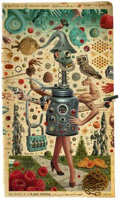 Michael Waraksa - Sifted in the Annexed Scheme, 2012. digital collage.  one surrealist a day