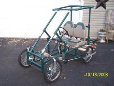 Ultimate DIY 4 wheel bike plans and kits. Made from PVC! Do it yourself four wheel cycles.