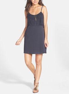 Adore the macramé detail on this classic cut summer dress.
