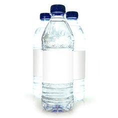 25 Water Bottle Labels 7 X 2 In Waterproof White