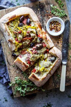 Yummy Appetizers, Appetizer Recipes, Snack Recipes, Bread Recipes, Yummy Recipes, Vegan Recipes, Cooking Recipes, Snacks, Italian Recipes