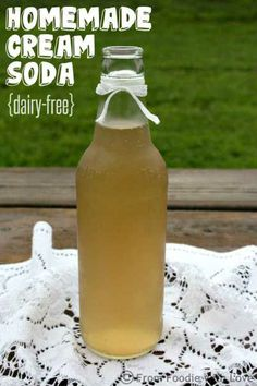 As promised, I am going to share how you can use our Homemade Vanilla Syrup to make delicious dairy-free Homemade Cream Soda Stream Recipes, Dairy Free Cream, Vanilla Syrup, Brunch, Slushies, Milkshakes, Summer Drinks, Refreshing Drinks, Hot Sauce Bottles