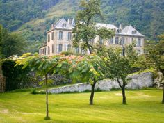 An abandoned French chateau is being restored in the Pyrenees.
