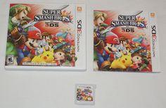 Super Smash Bros. Nintendo 3DS 2014 Complete game case manual