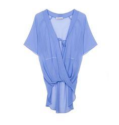 Wrap front chiffon blouse Chiffon, V Neck, Blouse, Collection, Tops, Women, Fashion, Blouse Band, Moda