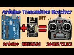 Hello guys in this video i have shown you how to make a transmitter and receiver with help of arduino and transreciever module. Arduino Remote Control, Remote Control Boat, Radio Control, Drones, Drone Quadcopter, Rc Drone, Arduino Wireless, Rc Controller, Arduino Projects