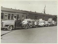 Title: An Austin parcels tractor transporting luggage at Central Railway Station, Sydney (NSW).au/about-us/rights-and-permissions Australian Photography, Vintage Photos, Vintage Stuff, Rail Transport, Sydney City, Steam Railway, Sydney Australia, Vintage Photography, Historical Photos