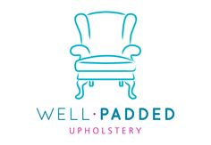 Well Padded Upholstery logo, designed by Nothing but Lovely. wellpadded.me.uk