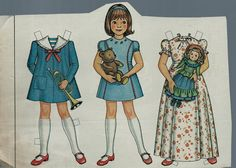 "Vintage Betsy McCall and ""Her Toys"" Paper Doll"