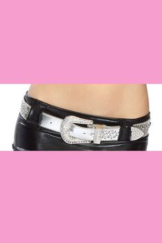#FashionVault #diamond couture #Women #Accessories - Check this : Silver Rhinestone Detail Belt for $20.99 USD