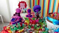 Decoração mesa Festa com tema Jelly Jam - Festa de aniversário do Marcos Júnior - 3 anos. Tema Jelly Jam - blog Um lar para Amar, por Carla Nascimento.