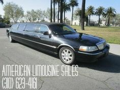 2006 Black 100-inch 5th door Lincoln Town Car Limousine #823  Visit our website at: Americanlimousinesales.com