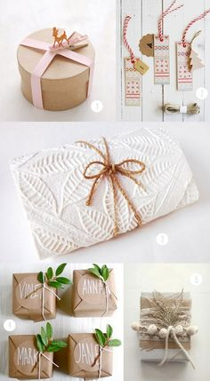 Brown paper packages tied up with string, these are a few of my favorite things.  For the joy of giving