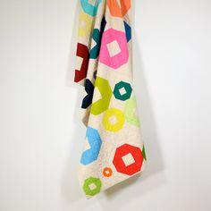 Handmade modern rainbow quilt | Twiggy and Opal
